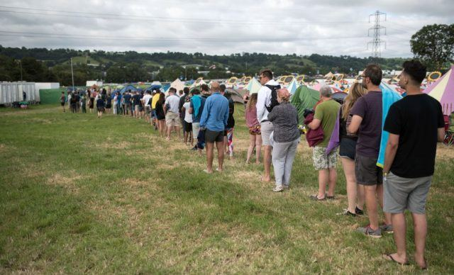 Long lines at Glastonbury