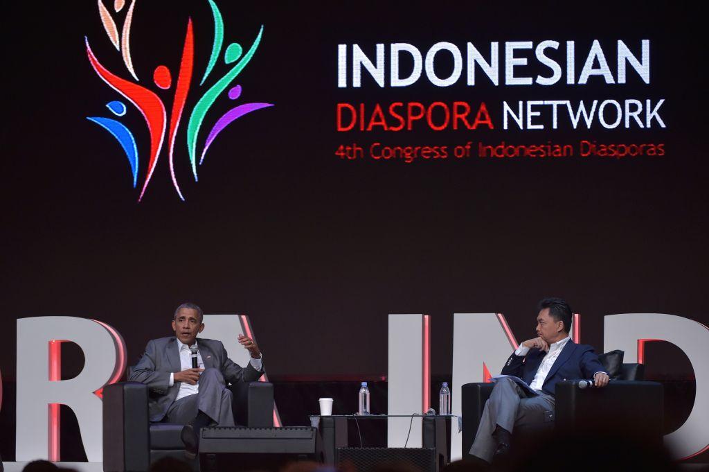 Obama speaking in Indonesia