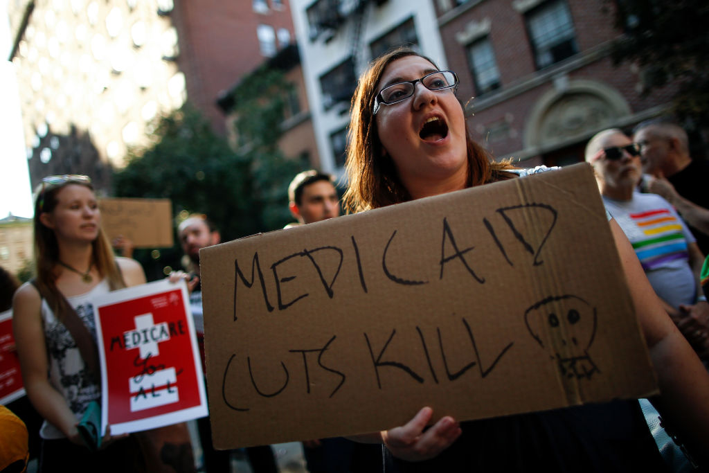 Protestors Rally Against Trumpcare In New York City