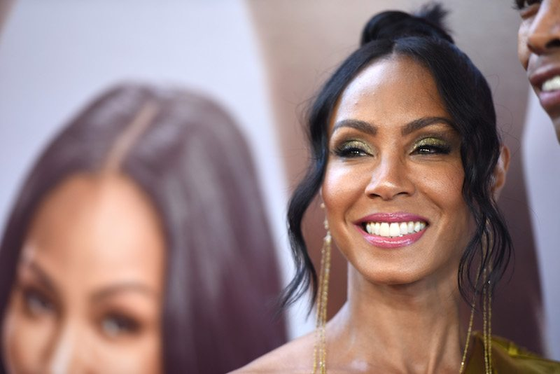"Actress Jada Pinkett Smith arrives for the premiere of ""Girls Trip,"