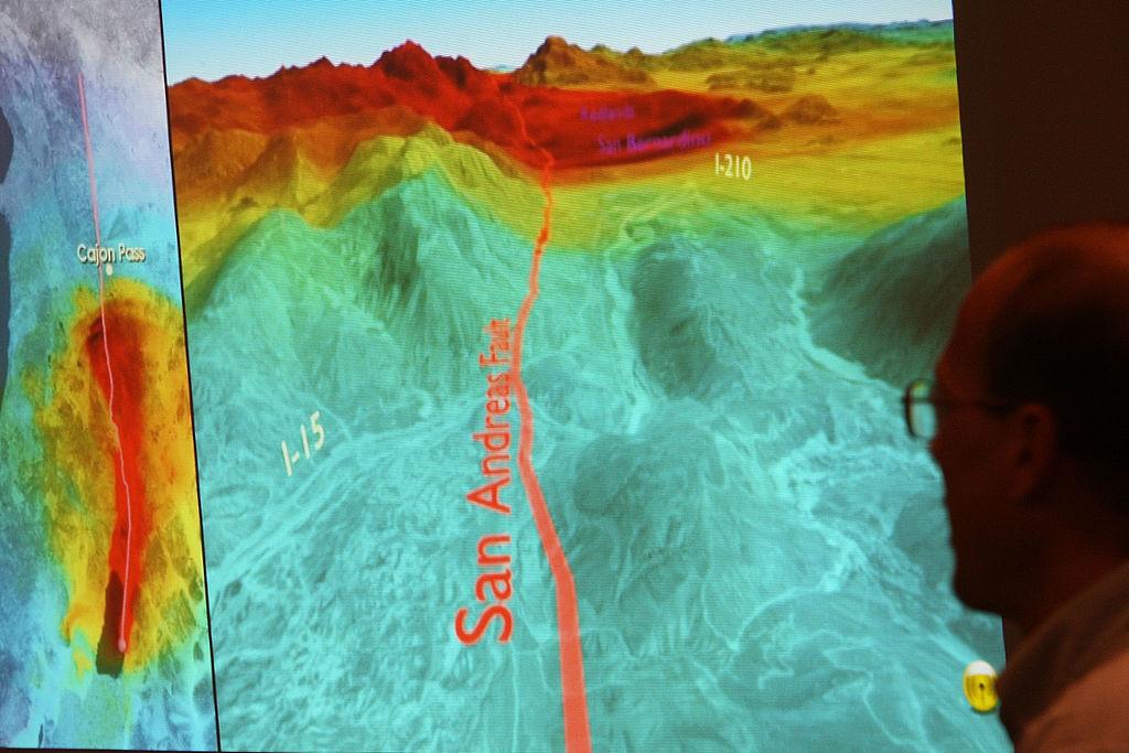 San Andreas heat map