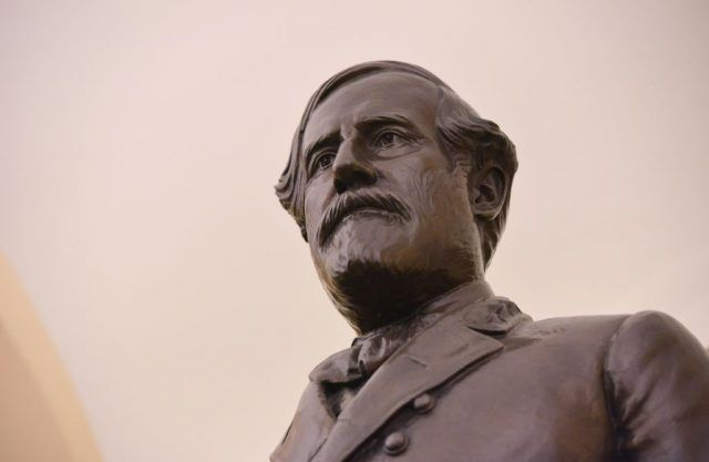 A statue of Confederate commanding general Robert E. Lee