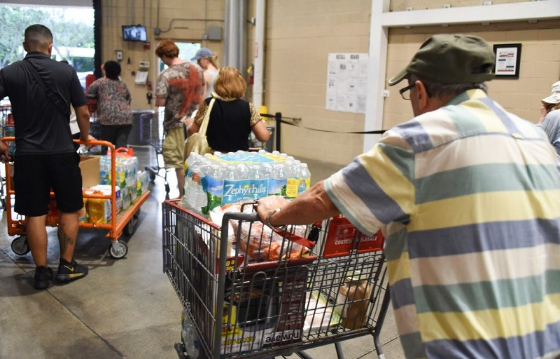 Shoppers at Costco