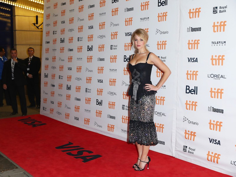 """Jennifer Lawrence attends the """"mother!"""" premiere during the 2017 Toronto International Film Festival"""
