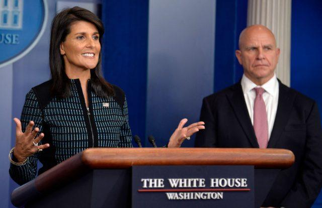 Haley and McMaster in press briefing