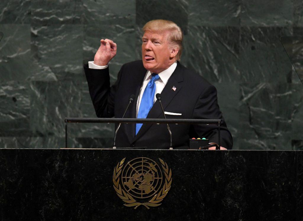 Trump gives his UN speech