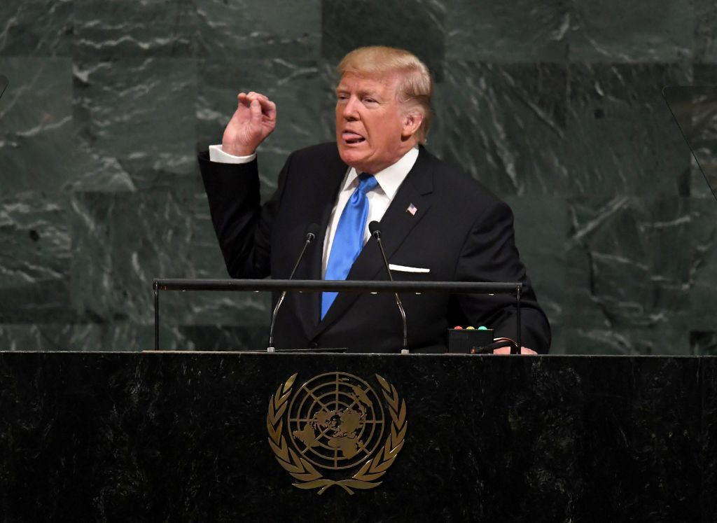 Trump gives his UN speech