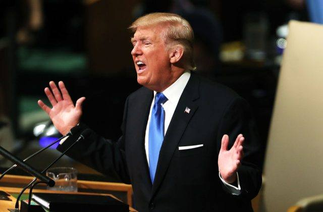 Trump speaking to the UN assembly