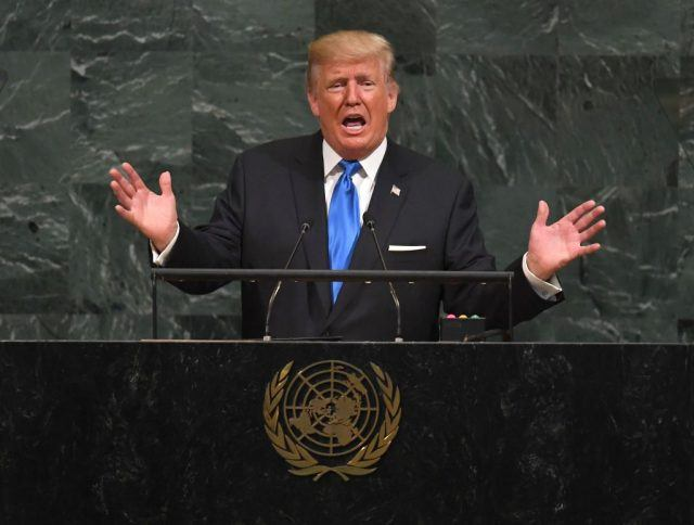 US President Donald Trump addresses the 72nd Annual UN General Assembly in New York