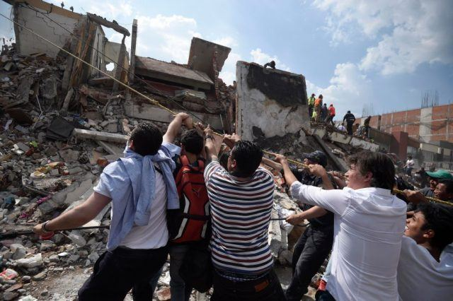 earthquake rescue efforts in Mexico City