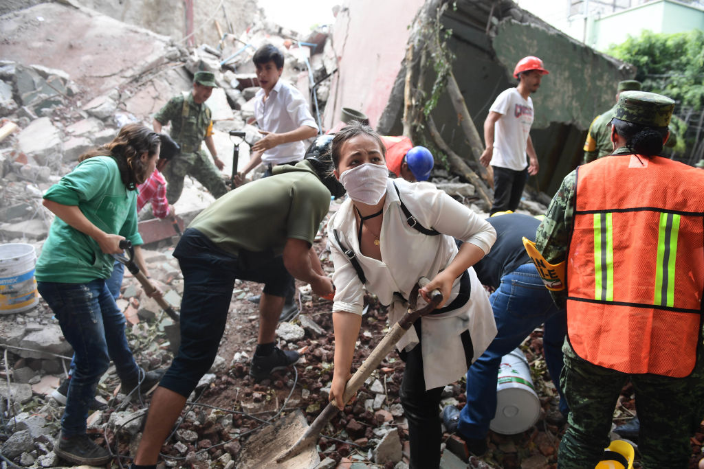 Mexico City earthquake rescuers