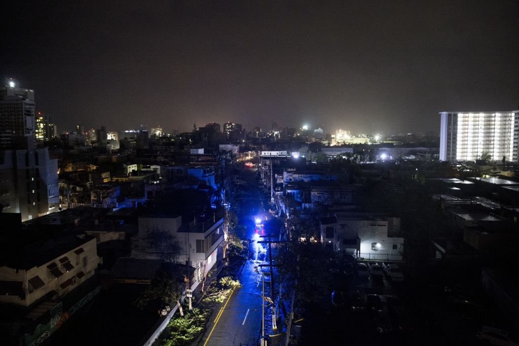 San Juan without power