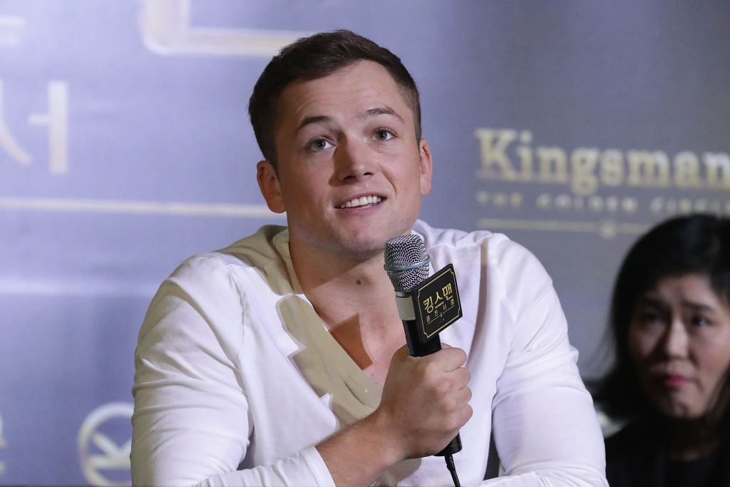 Taron Egerton attends the 'Kingsman: The Golden Circle' press conference at Yongsan CGV on September 21, 2017 in Seoul, South Korea.