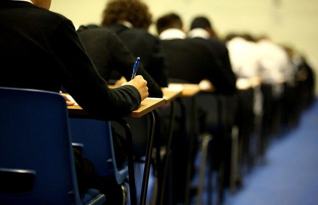 Students in class