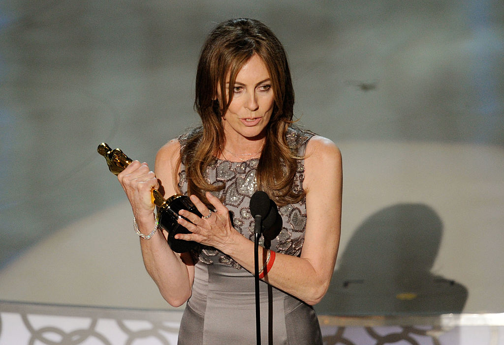 """Director Kathryn Bigelow accepts Best Director award for """"The Hurt Locker"""" onstage during the 82nd Annual Academy Awards"""