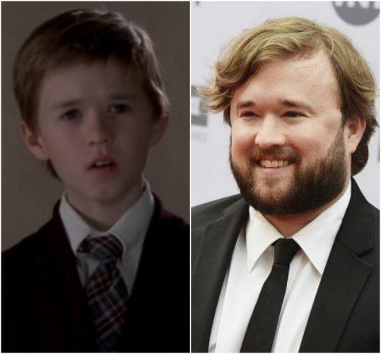 A young Haley Joel Osment in 'Sixth Sense' and Haley Joel Osment today.