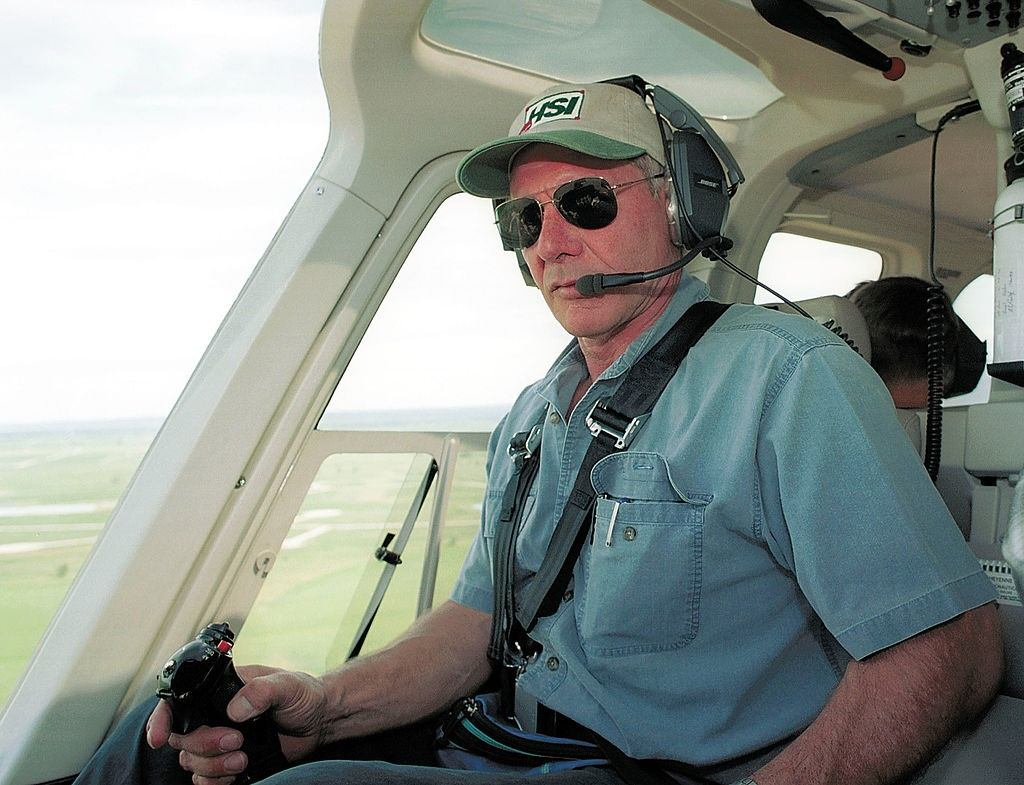 Harrison Ford Flies in 2001
