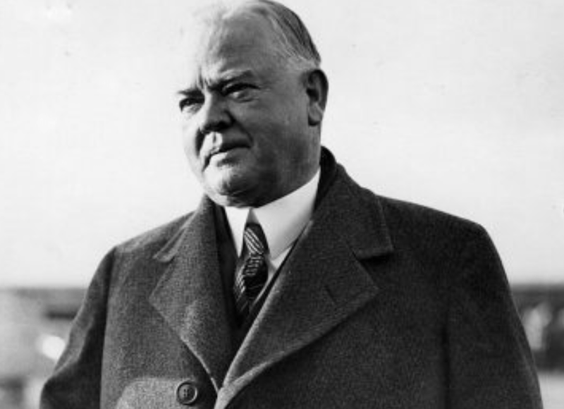 Herbert Hoover in a coat and tie