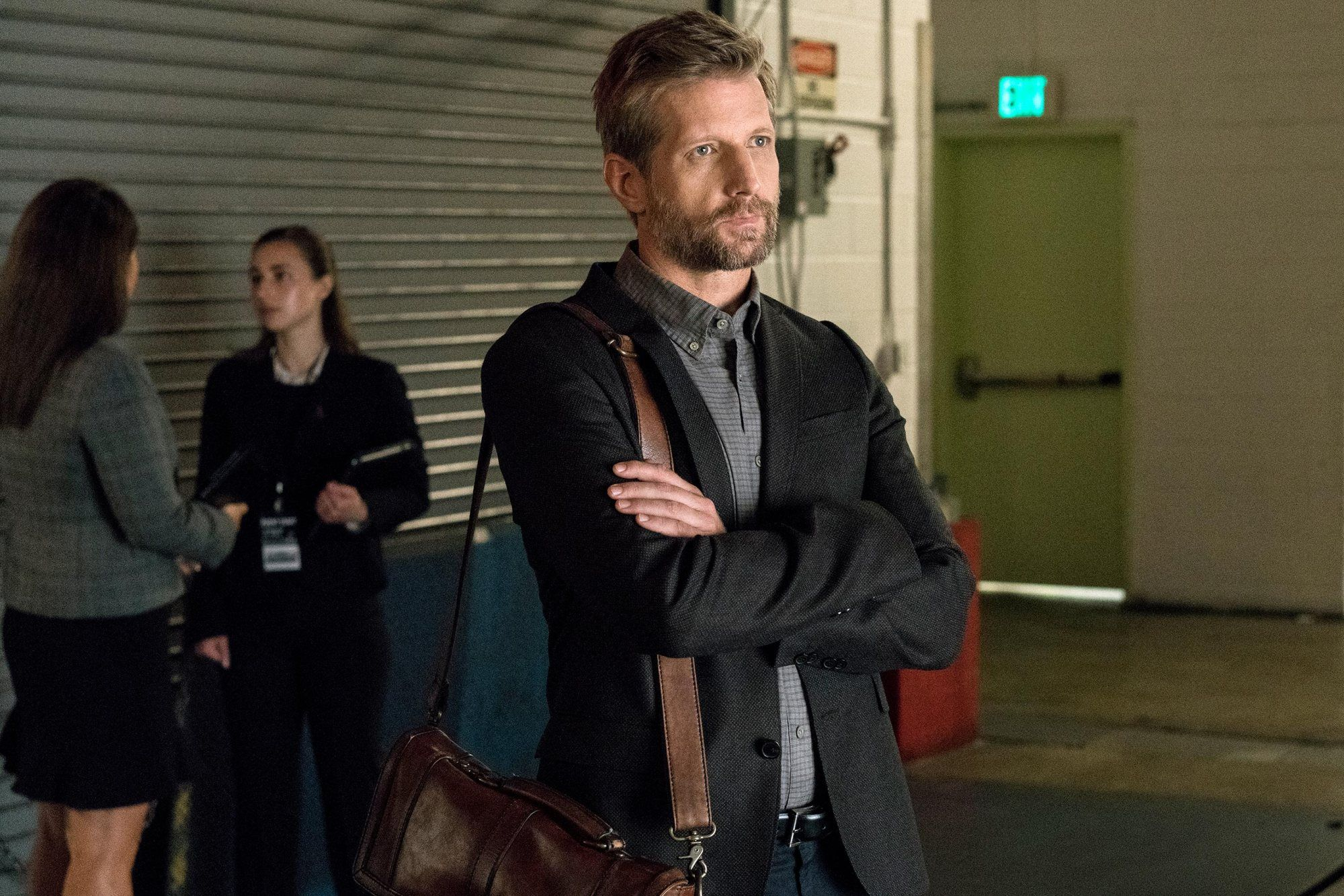 Tom Yates, played by Paul Sparks, acts on the set of House of Cards
