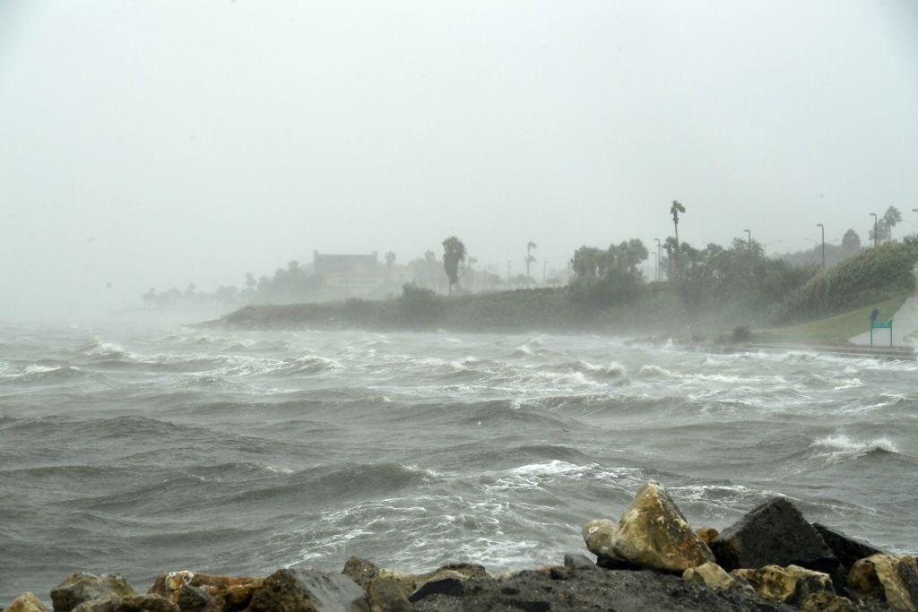 Strong winds batter seaside houses