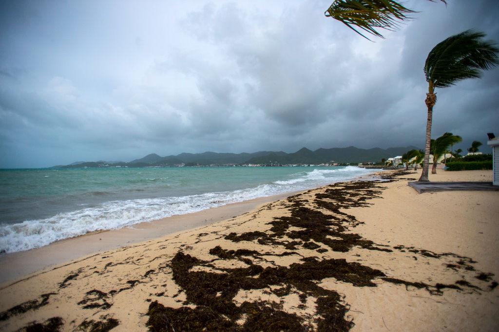 Bai Nettle beach in Marigot before the arrival of Hurricane Irma