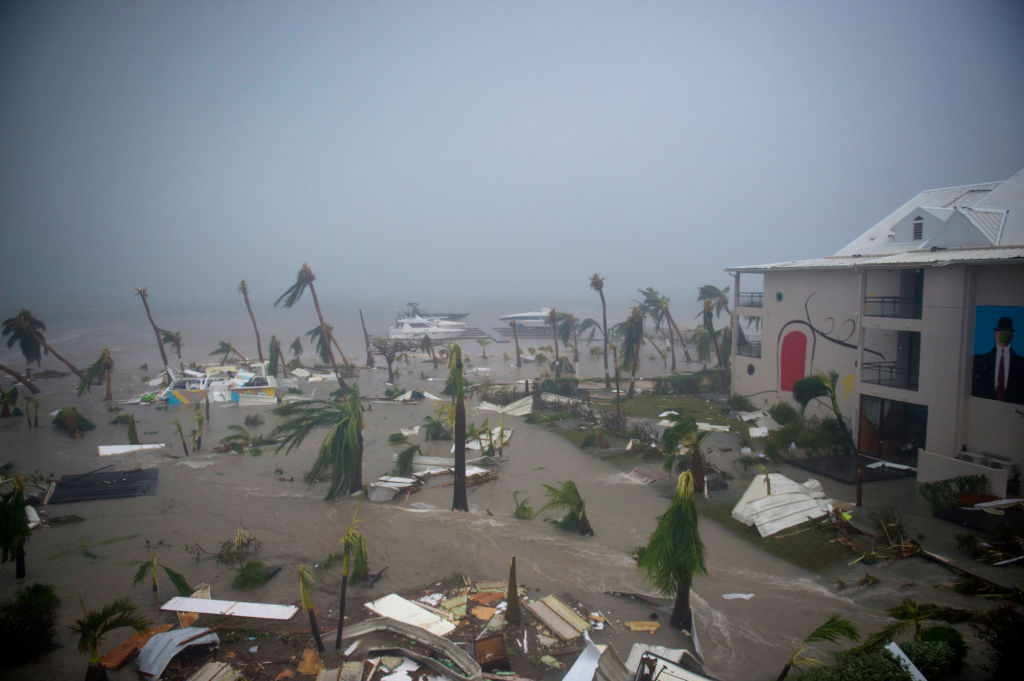 A hotel in Saint Martin after Hurricane Irma