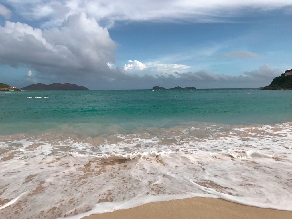 View from Saint-Barthelemy as preparations for Irma are underway
