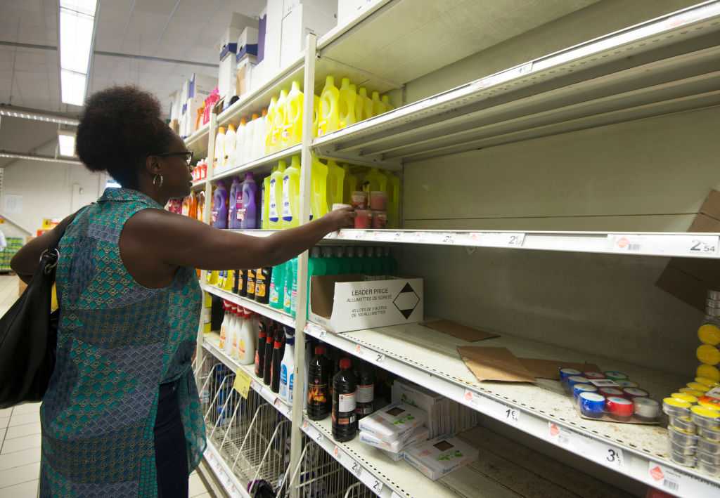 Woman at supermarket in Point-a-Pitre