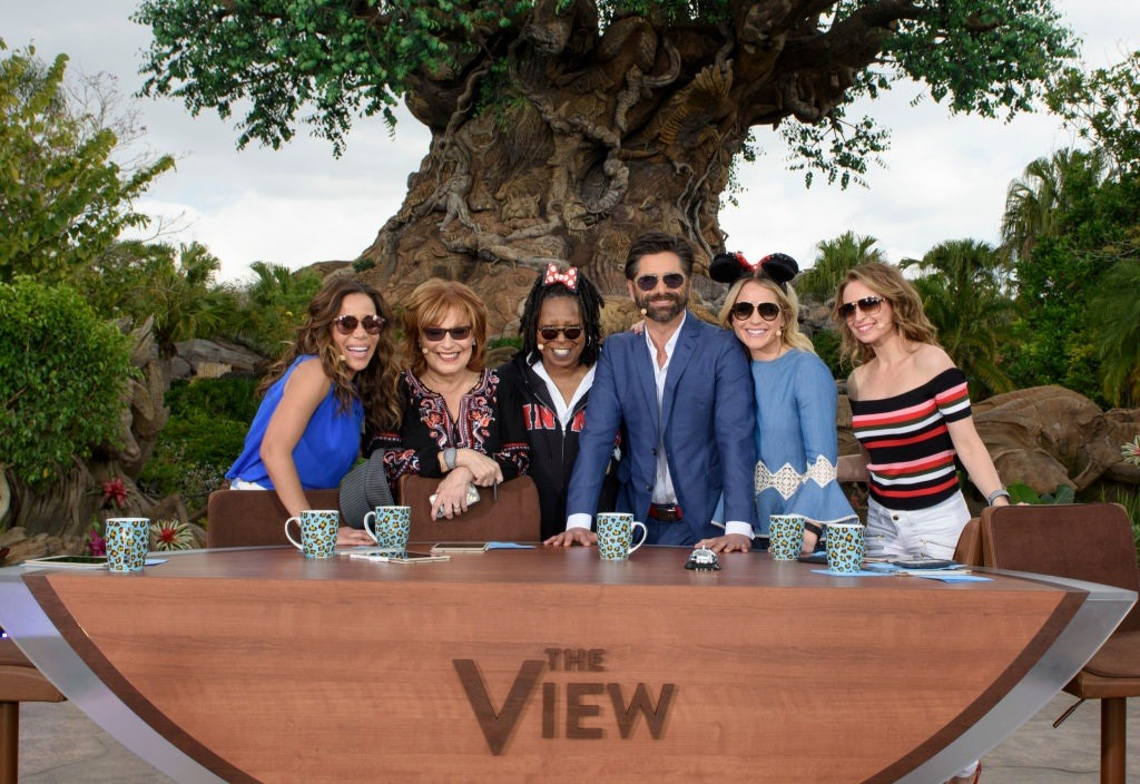 Jedediah Bila, her co-hosts from The View, and guest John Stamos