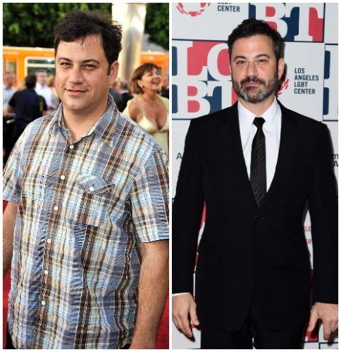 Jimmy Kimmel's weight loss comparison.