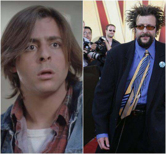 Judd Nelson as a teen in 'The Breakfast Club' and Judd Nelson in 2005.