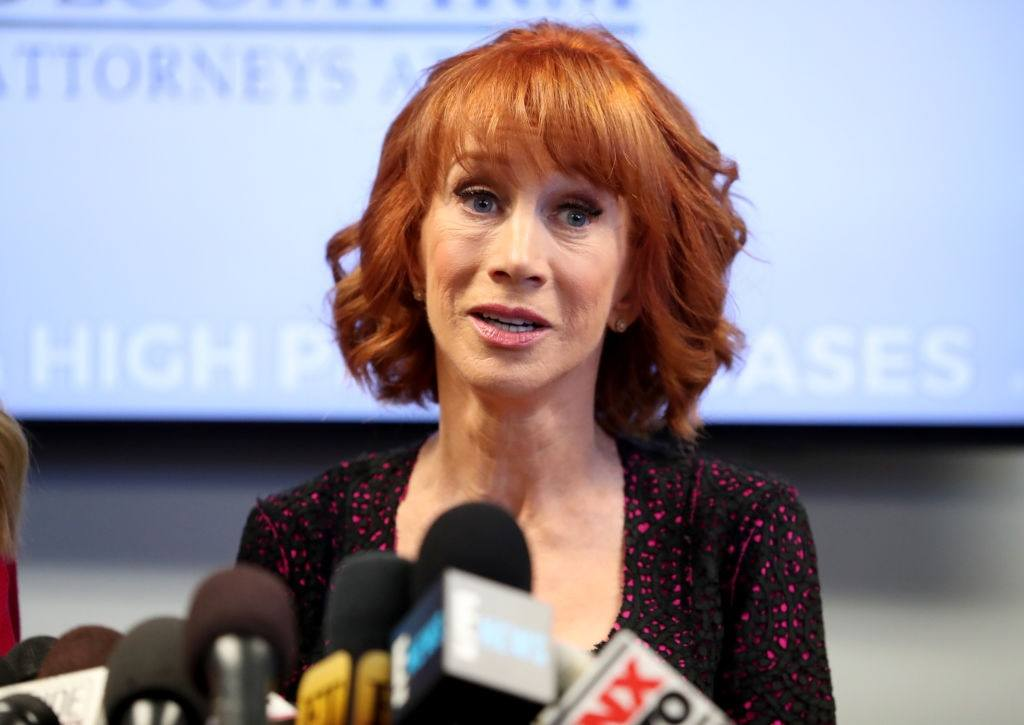 Kathy Griffin and her attorney Lisa Bloom