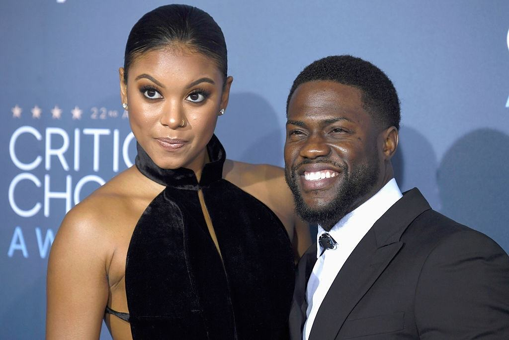 Eniko Parrish and actor Kevin Hart attend the Critics' Choice Awards in 2016.