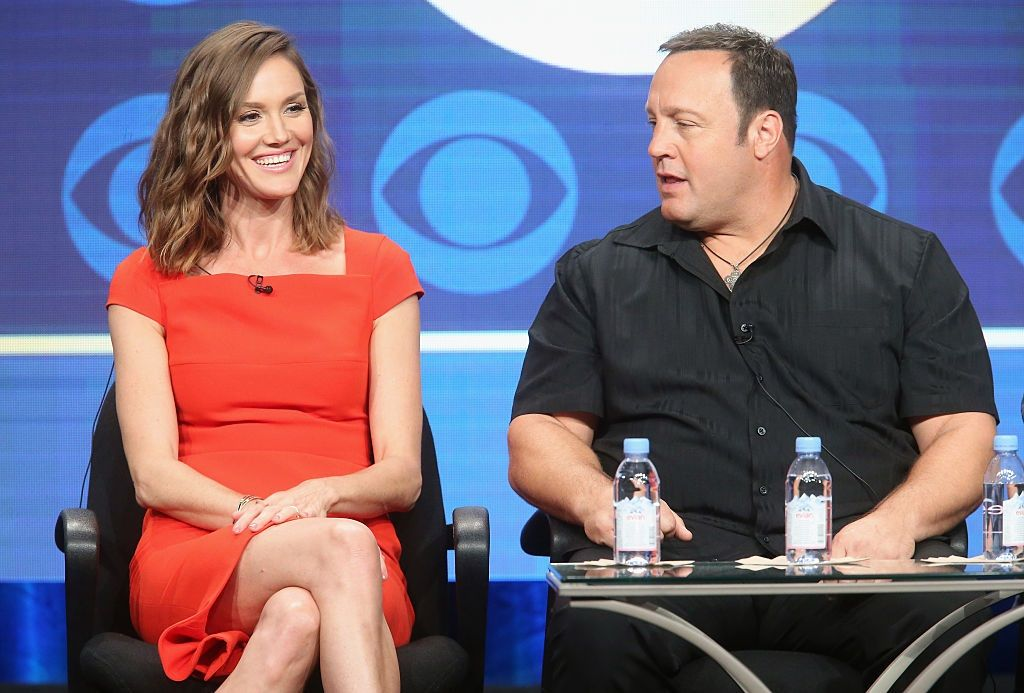 Erin Hayes and Kevin James in 2016