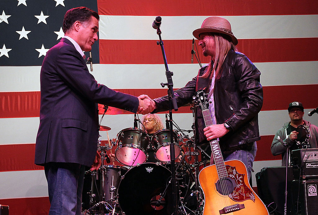 Gov. Mitt Romney Greets Kid Rock