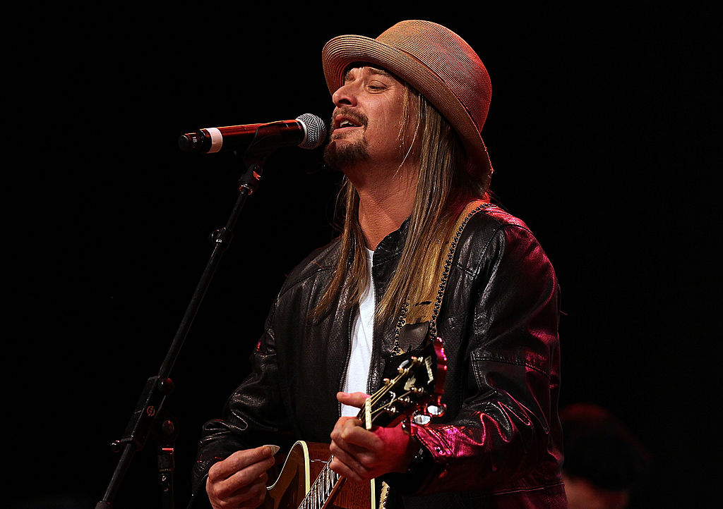 Musician Kid Rock Performs at a Mitt Romney Rally