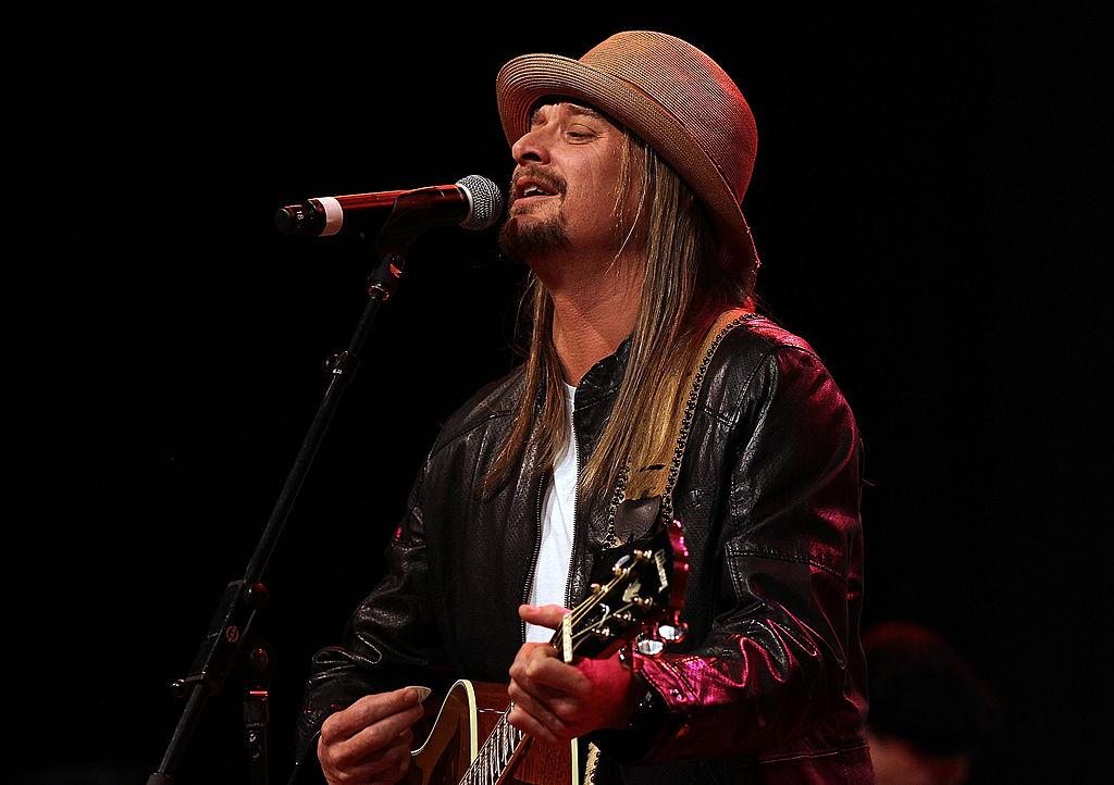 Musician Kid Rock Performs at a Mitt Romney Rally
