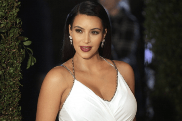 Kim kardashian in white dress