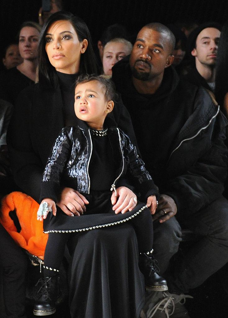 Kim Kardashian and family at a fashion show