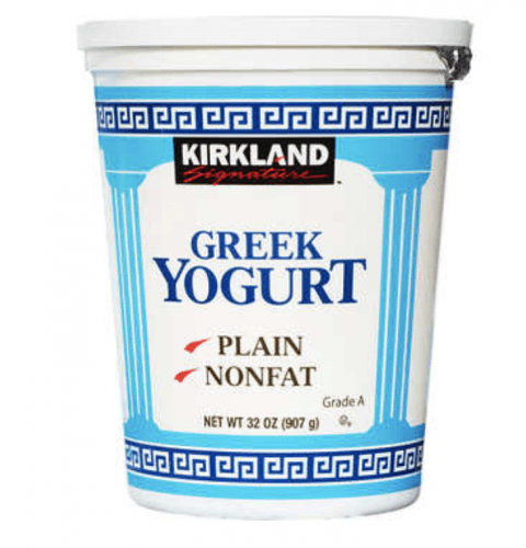 A tub of Greek Yogurt.