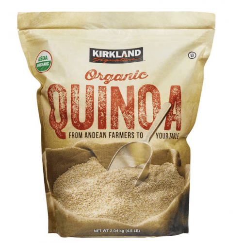 A pack of organic quinoa.