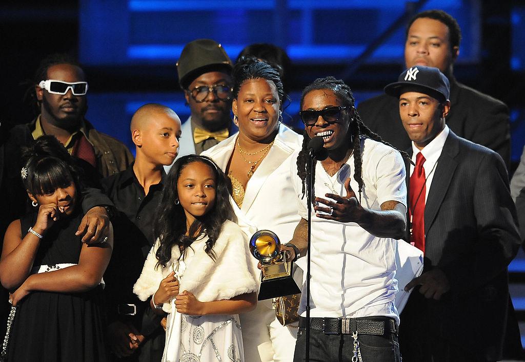 Lil Wayne accepts Best Rap Solo Performanace