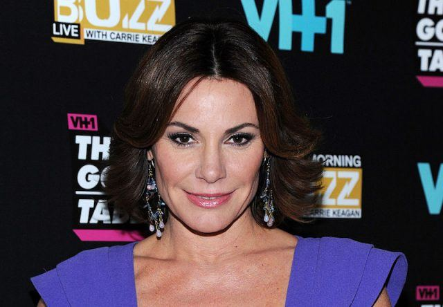 Luann de Lesseps poses for photos at a media event in New York.
