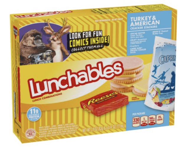 A box of Lunchables Turkey and cheese.