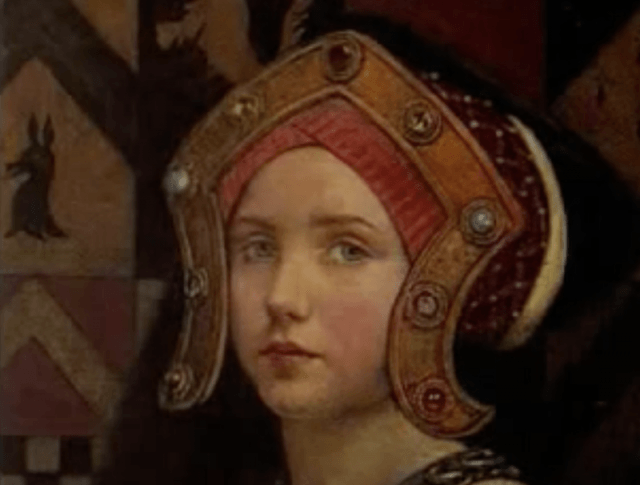 A painting of a young Margaret Tudor.