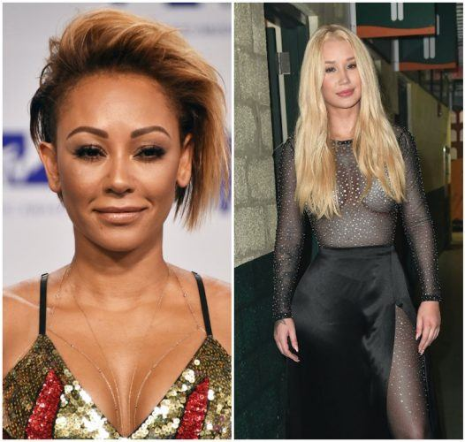 A collage featuring Mel B and Iggy Azalea.