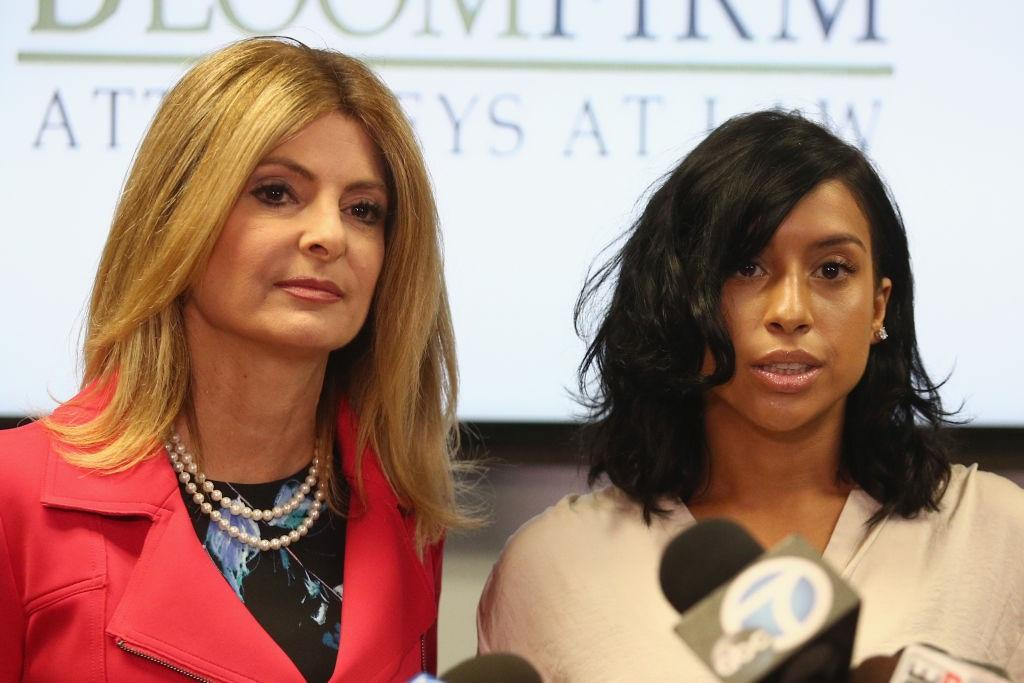 Montia Sabbag and her lawyer