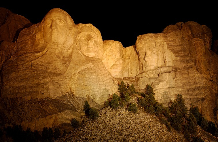 60-foot tall Mount Rushmore