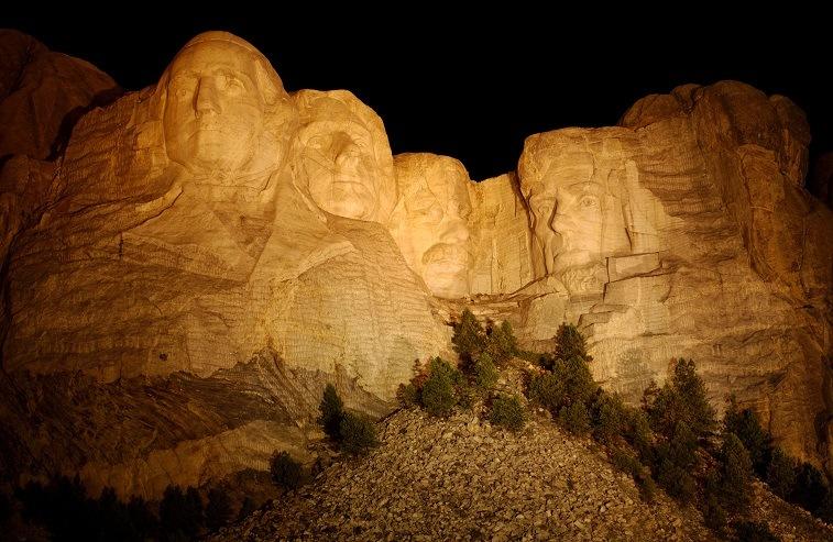 60-foot tall Mount Rushmore