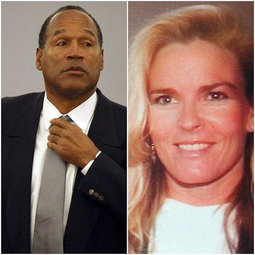 Photos of O.J Simpsons and Nicole Brown Simpson.